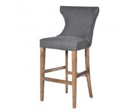 Dizajnová barová stolička Miette sivá
