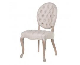 Luxusná stolička Hayward v barokovom štýle s chesterfield prešívaním 100cm