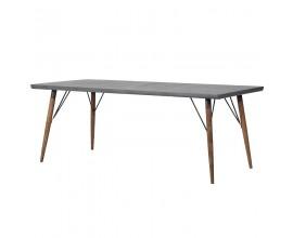 Industriálny  jedálenský stôl Ontario z masívneho dreva 200cm