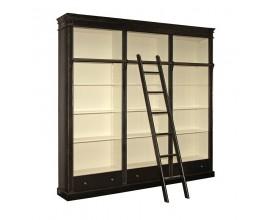 Luxusná čierna vintage knižnica Riva Noir 240cm