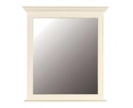 Štýlové biele nástenné zrkadlo Riva Crema