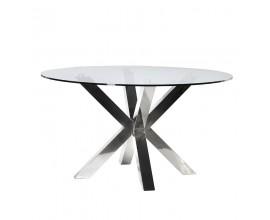 Luxusný art-deco okrúhly jedálenský stôl Cromia