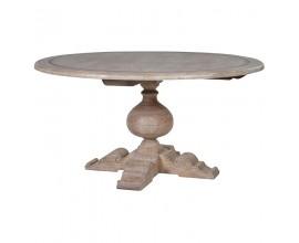 Štýlový okrúhly jedálenský stôl NATURE