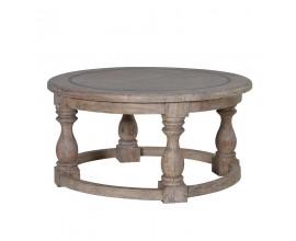 Štýlový antický konferenčný stolík NATURE guľatý