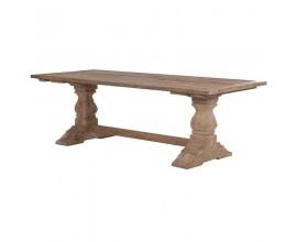 Štýlový vidiecky jedálenský stôl KOLONIAL z masívneho dreva