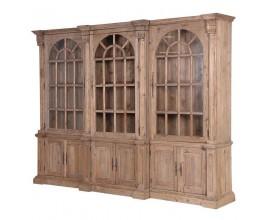 Luxusná vidiecka masívna trojitá knižnica KOLONIAL z masívneho dreva