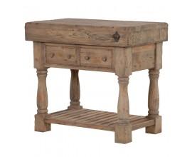 Vidiecky príručný stolík z masívu KOLONIAL z masívneho dreva