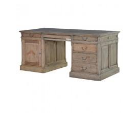 Luxusný vidiecky pracovný stôl KOLONIAL zo svetlého masívneho dreva