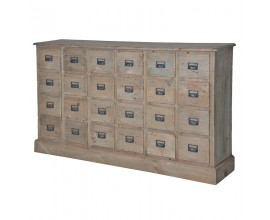 Vidiecka komoda KOLONIAL s 24mi zásuvkami zo svetlého dreva