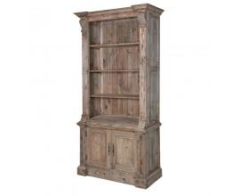 Vidiecka luxusná knižnica KOLONIAL svetlé drevo
