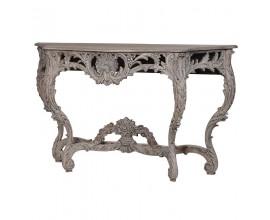 Luxusný vidiecky konzolový stolík KOLONIAL zo svetlého masívneho dreva