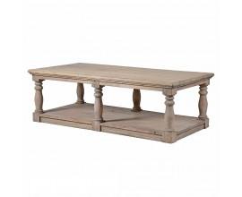 Štýlový vidiecky konferenčný stôl KOLONIAL z masívneho dreva