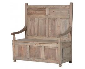 Dizajnová vintage lavica  z masívu KOLONIAL