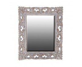 Vintage nástenné zrkadlo Edoria spatinou zostarnutia a ornamentálnym zdobením 128cm