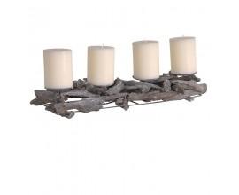 Dizajnový svietnik so štyrmi sviečkami Driftwood