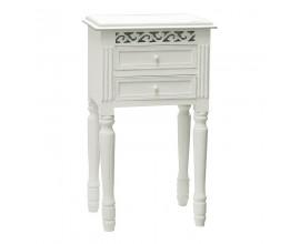 Dizajnový nočný stolík Blanc Clair s dvoma zásuvkami