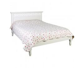 Dizajnová biela provensálska posteľ Blanc Clair