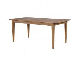 Masívny dlhý jedálenský stôl Paurketine s dekoratívnym parketovým motívom 180cm