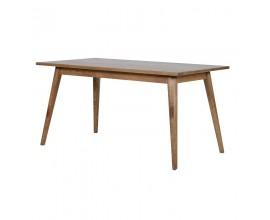 Dizajnový retro jedálenský stôl z masívu