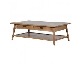 Masívny hranatý konferenčný stolík Parler s úložným priestorom 130cm