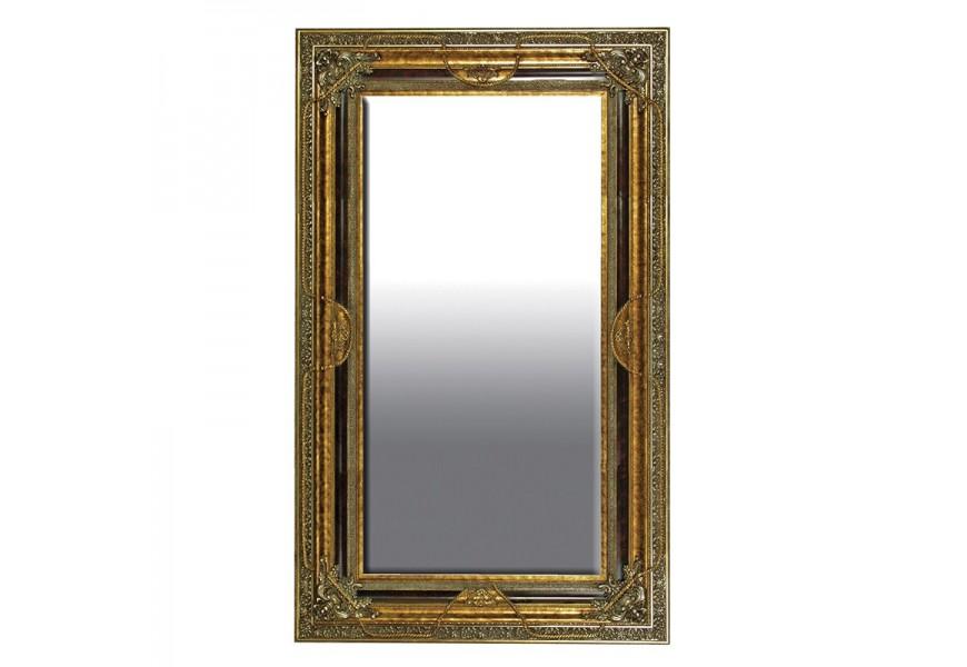 Barokové nástenné zrkadlo Roi Gilt so zlatým rámom 235cm