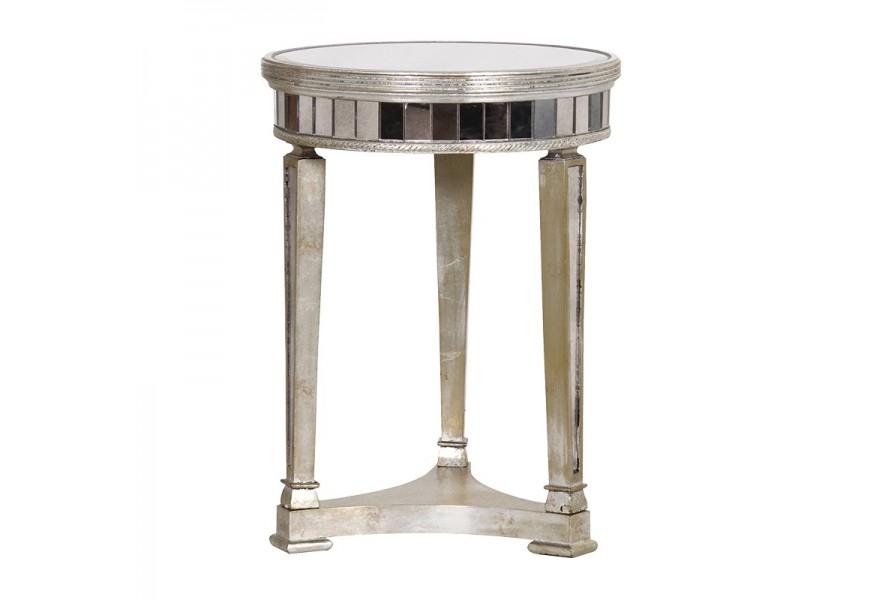 Luxusný a jedinečný zrkadlový príručný stolík Granada Old