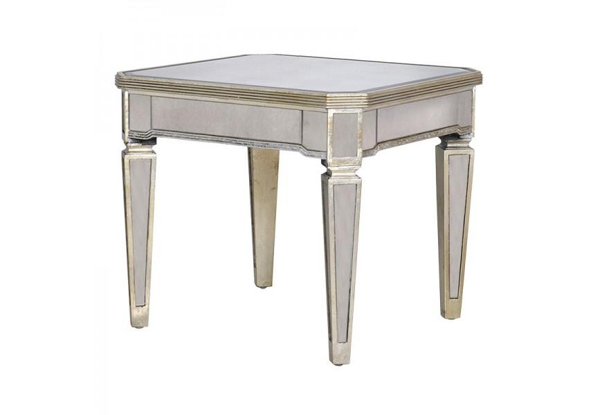 Luxusný príručný stolík v zrkadlovom štýle z kolekcie Granada Old