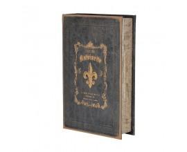 Čierna dekoračná kniha Antigue 24x16cm