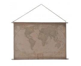 Látková vintage závesná mapa sveta 120cm