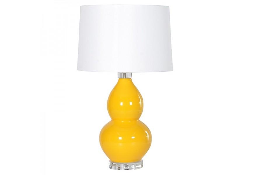 Shaped Yellow Tbl.Lamp W/Shd.