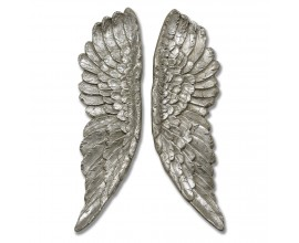 Luxusné Anjelské krídla 61cm strieborné (2ks)