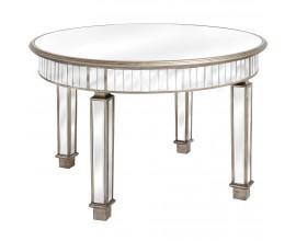 Luxusný zrkadlový okrúhly jedálenský stôl BELFRY