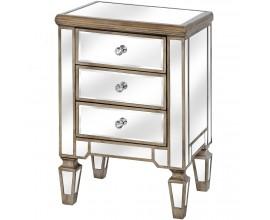 Luxusný zrkadlový nočný stolík BELFRY