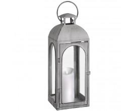 Dizajnový sivý lampáš IGLESIA 50cm