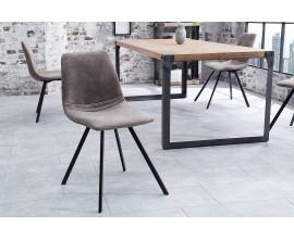 Dizajnová stolička Amsterdam Retro antique šedá