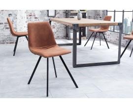 Dizajnová stolička Amsterdam retro Vintage hnedá