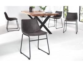 Dizajnová stolička Django šedá