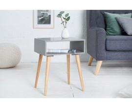 Štýlový retro príručný stolík Scandinavia sivá