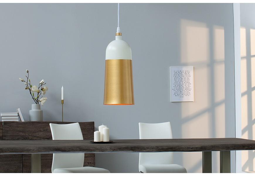 Dizajnová závesná lampa Modern Chic zlatá