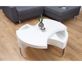 Dizajnový konferenčný stolík Turn Around biely