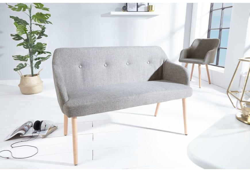 Štýlová lavica Scandinavia 116cm šedá