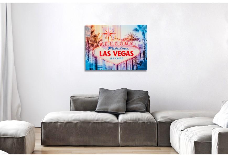 Štýlový obraz Las Vegas 60x80cm sklo