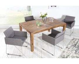 Dizajnová sivá stolička Bari