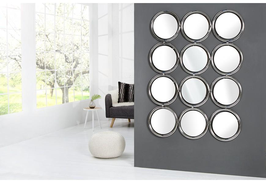 Luxusné nástenné zrkadlo Circle 130cm strieborné