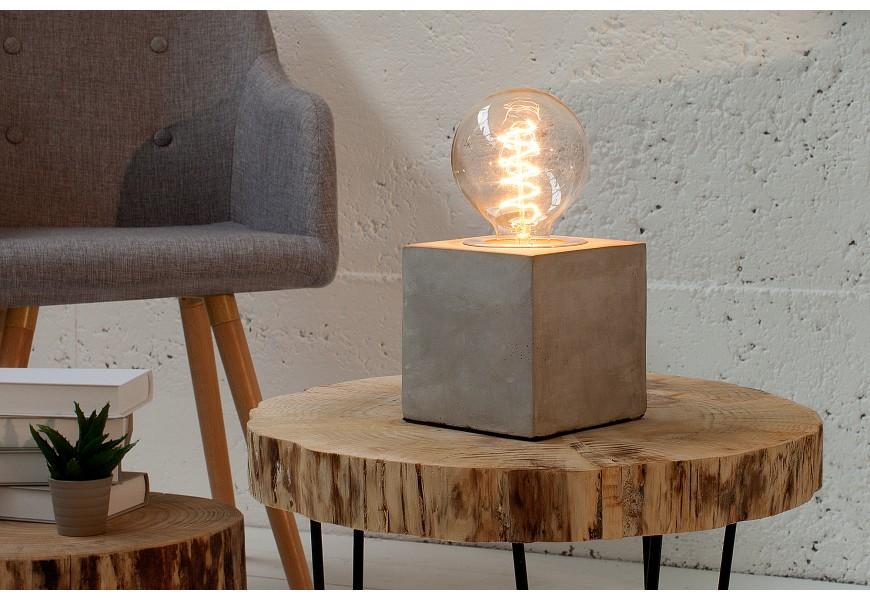 Dizajnová stolná lampa Cement I