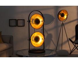 Moderná dizajnová stolná lampa Studio čierno-zlatá