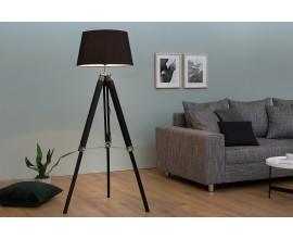 Dizajnová elegantná stojaca lampa Sylt 99-143cm čierna