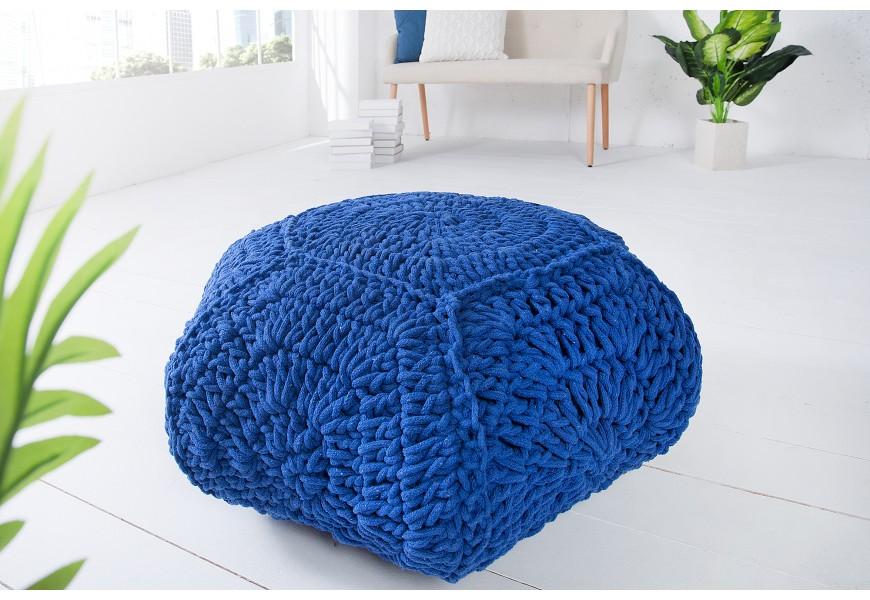 Dizajnová štýlová taburetka Cosy IV modrá
