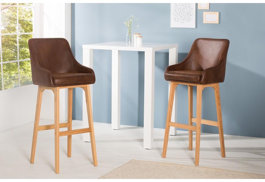 Štýlová barová stolička Scandinavia káva