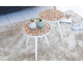 Štýlový príručný stolík Pure nature mix I 40cm